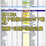 2012年電子記帳本excel下載=>預算+記帳+現金流量
